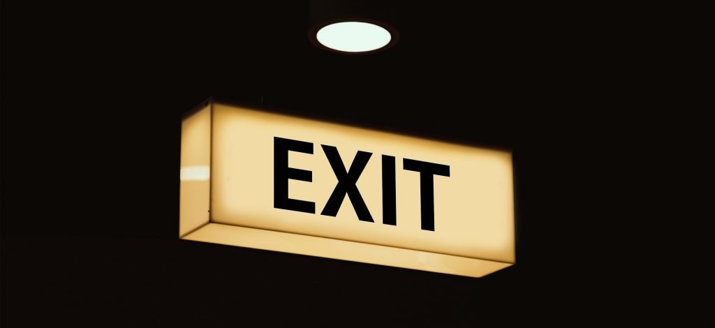 Your exit is just an important as your entrance.